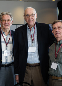 Photo of Bill with his classmates at a Stevens event in March 2016